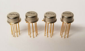 4 Pieces Nos Sd741c Gold Leads Single General Purpose Op Amps To 99 Vintage Ic