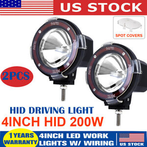 2x 4inch Hid Xenon Fog Driving Light Spot Light For Off road 4wd Work Lamp 12v