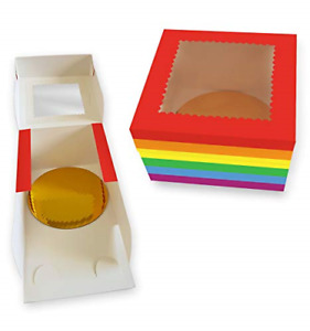 Cookeezz Couture Cake Boxes 8x8x5 Inch decorated Pride Design Bakery Box Auto