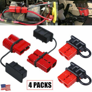 4x 12v Auto Car Battery Quick Connect Disconnect Plug Winch Connector 50a