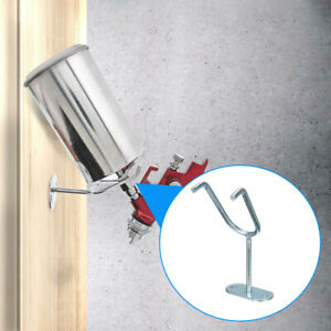 Paint Spray Gun Holder Stand Gravity Feed Hvlp Bench Wall Mount Hook Booth Cup