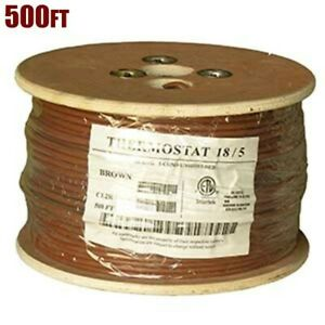 500ft 18 5 Unshielded Cmr Heating Air Conditioning Hvac Ac Thermostat Wire Cable