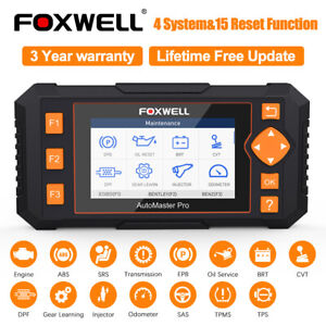 Foxwell Nt634 Obd2 Scanner Auto Diagnostic Scan Tool Abs Srs Dpf Epb Oil Reset