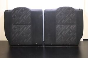 2002 2006 Acura Rsx Rear Right Left Seat back Cushions Black Cloth Oem