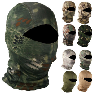 Camouflage Military Tactical Helmet Liner Gear Full Face Cover Balaclava Hood $8.99