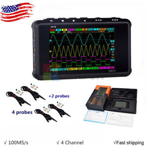 Digital Oscilloscope Portable Lcd 4 channel Usb 15mhz 100msa s Models Ds213