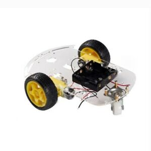 2wd Motor Smart Robot Car Chassis Kit Speed Encoder Battery Box For Arduino P9f8