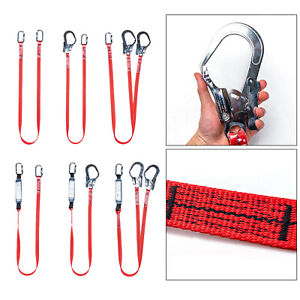 High Altitude Safety Harness Belt Lanyard With Hook Shock Absorber Roofing