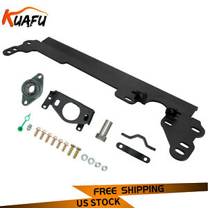 New Black Steering Box Brace For 84 01 Jeep Cherokee Xj W sector Shaft Support