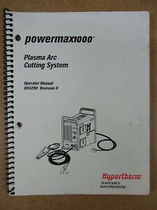 Powermax 1000 Plasma Arc Cutting System Operator Manual 804290