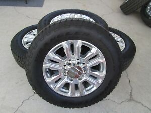 20 Chevy Gmc 2500 3500 Hd Pickup Factory Oem Wheels And Tires 275 65 20 10 Ply