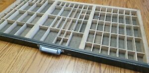 Vintage Wooden Printers Drawer Letterpress Type Set Tray Shadow Box Thompson