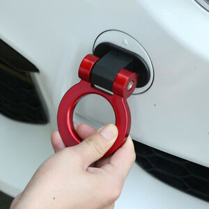 Universal Car Ring Track Racing Style Tow Hook Look Decoration Red Accessories Fits 2006 Mazda 3