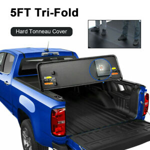 5ft 3 Fold Hard Solid Truck Bed Tonneau Cover For 19 2021 Ford Ranger Waterproof