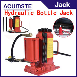 Air Hydraulic Bottle Jack With Manual Hand Pump 20 Ton 40 000 Lb Capacity Red