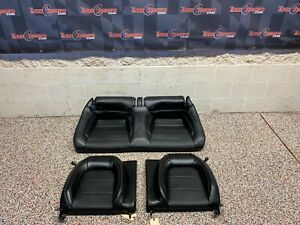 2015 Ford Mustang Gt Oem Recaro Black Leather Rear Seats