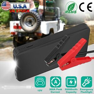 Portable Slim 20000mah Car Jump Starter Engine 12v Battery Charger Power Bank