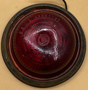 Vintage Kd Lamp Co Kd 539 Sema Approved Red Glass Lens Housing