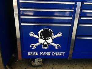 Skull And Cross Wrenches Dead Mans Chest Decal Snap On Tool Box Cart Krl
