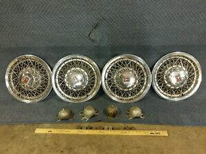 4 Oldsmobile 15 In 4070 22504976 Cutlass 88 98 4094 Wire Wheel Covers Hubcaps
