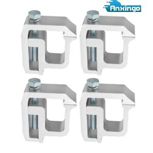 4pcs Mounting Clamps Truck Caps Topper Powder coated Fit Chevy Dodge Ford Nissan