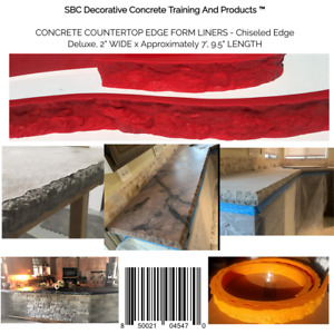 Concrete Countertop Edge Form Liners Chiseled Edge Deluxe 2 Wide X Approxima