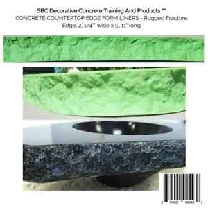 Concrete Countertop Edge Form Liners Rugged Fracture Edge 2 1 4 Wide X 5