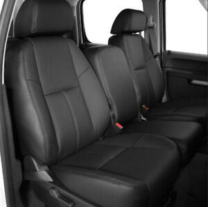 For 2007 2013 Chevy Silverado Crew Cab Synthetic Leather Full Set Seat Cover