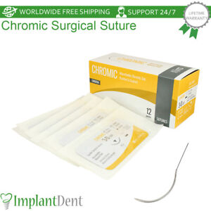 Dental Absorbable Monofilament Chromic Gut Surgical Suture Implant Surgery