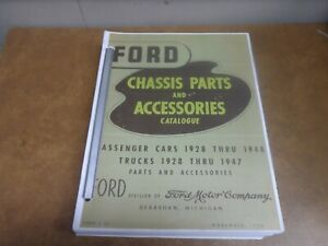 Ford Parts And Accessories Catalog 1928 1948 Reprint Of January 1950