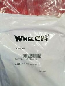 2 Lot New Whelen 900 Series Red Lens 68 1183542 50a