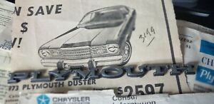 Vintage 1970 s Rare Chrysler Plymouth Duster other Metal 5 5 Car Emblem Badge