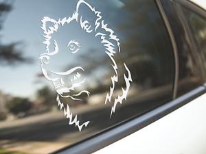 Samoyed Sticker Dog Car Decal Samoyeds Show Dogs Pets Puppy Silhouette Face