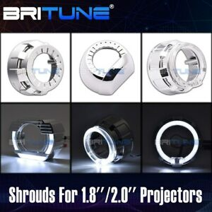1 8 2 0 Inch Projector Shrouds Angel Eyes Tuning Hid Led Lens Cover Accessories
