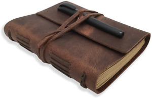 Cooleather Journal Writing Notebook Genuine Leather Lined Paper 240 Page 5 x7