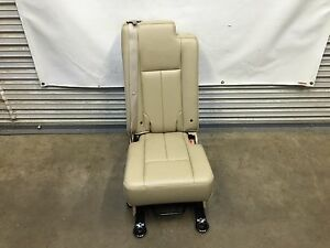 2003 2017 Navigator Ford Expedition Second 2nd Row Middle Jump Seat Tan Leather