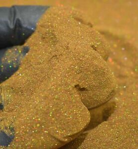 Ginger Gold Holographic Micro Mini 002 Hex Metal Flake Painting Epoxy