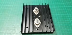 To3 Heat Sink With 2n3055 Transistor From Military Power Supply