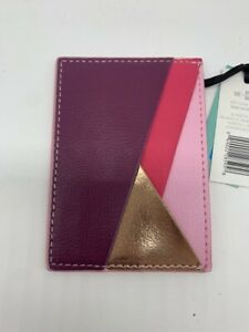 Me To We Card Holder Pink Purple Gold 3 X 4 Business Credit Debit Cards