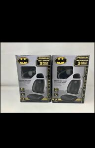 Batman Dark Knight Shattered Logo High Front Pair Sideless Seat Covers
