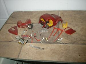 Vintage 124 125 1940s Hot Rod Willys Pro Street Red For Parts Or Restore