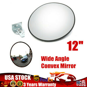 12 Wide Angle Security Convex Pc Mirror Outdoor Road Traffic Driveway Safe Usa
