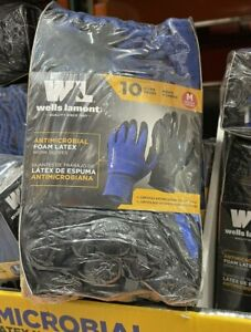 Wells Lamont Antimicrobial Foam Latex Work Gloves 10 Pairs Size Medium Or Large