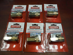 6 Count Craftsman Universal Quick Connect Coupler Kit For Air Tools 16377 New
