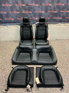 2017 Ford Mustang Gt Oem Coupe Black Leather Seats Front Rear 5k one Blown Bag