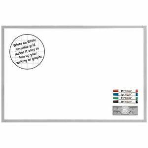 Magna Visual Deluxe Ghost Grid Board Kit 24 X 36 White 36 X 24