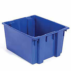 Stack And Nest Shipping Container No Lid 23 1 2x19 1 2x13 Blue Lot Of 3