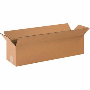 12 X 3 X 3 Long Corrugated Boxes 65 Lbs Capacity 200 ect 32 Lot Of 25