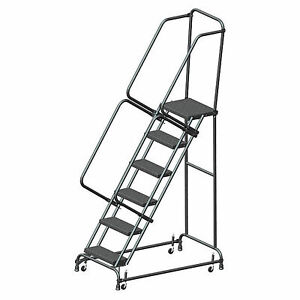 Ballymore Fsh618p Perforated 16 w 6 Step Steel Rolling Ladder 14 d Top Step