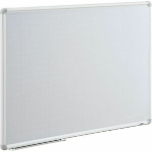 Magnetic Steel Dry Erase Planning Board With 1 x2 Grid Aluminum Frame 36 X
